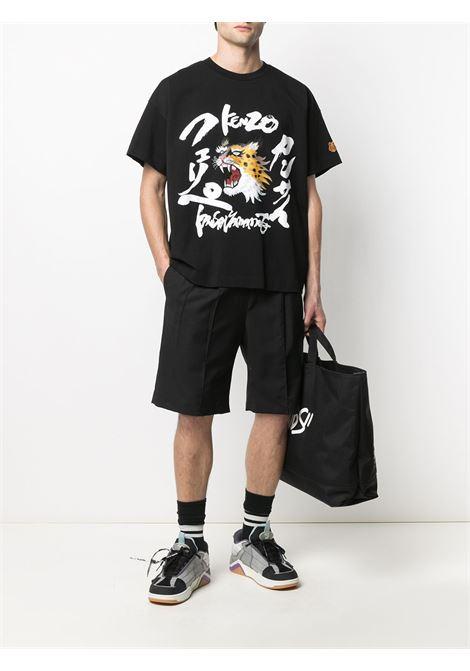 Kenzo t-shirt con stampa cartoon uomo KENZO | T-shirt | FB55TS0724SK99