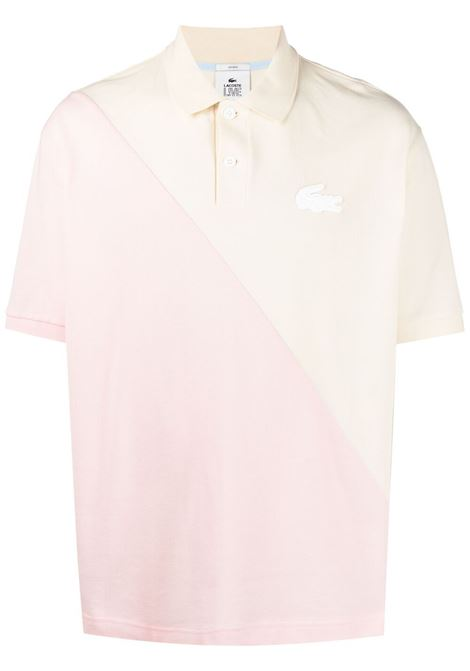 Lacoste polo con patch logo uomo bicolore LACOSTE LIVE | Polo | DH1232W31