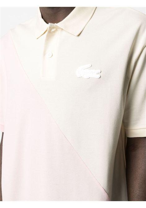 polo bicolore unisex rosa in cotone LACOSTE | Polo | DH1232W31