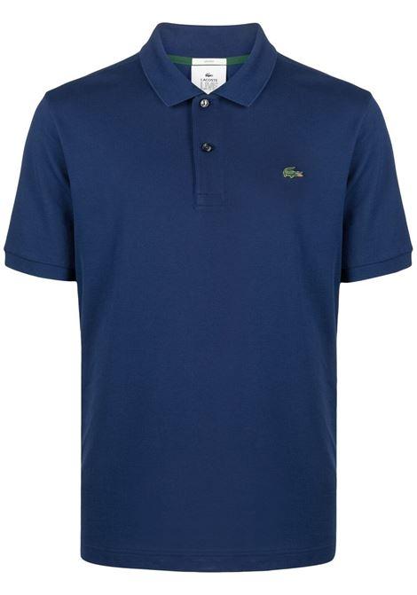 Lacoste Live logo patch polo man blue LACOSTE LIVE | Polo | PH916178X