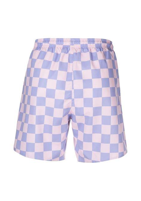 Lacoste check swimsuit man pink LACOSTE | Swimwear | MH9125USS