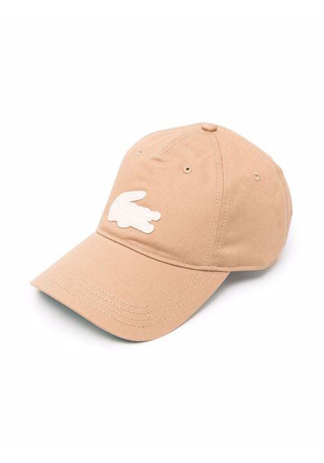 Cappellino con Logo Marrone Uomo in Cotone LACOSTE | Cappelli | RK9010Z1S