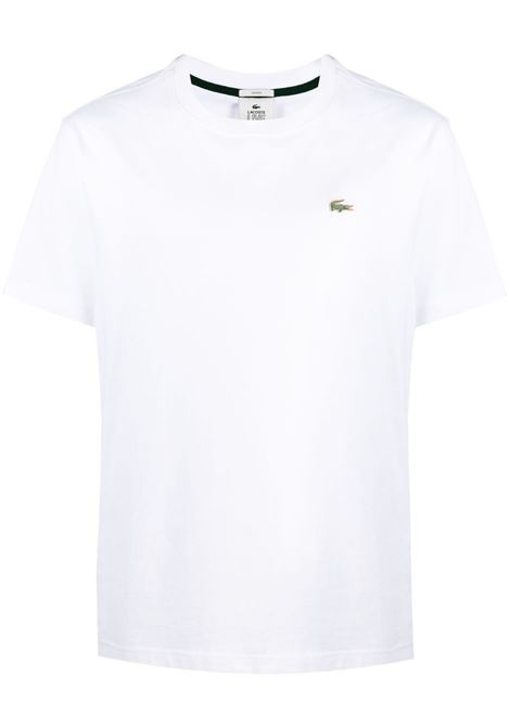Lacoste logo t-shirt man white LACOSTE | T-shirts | TH9166001