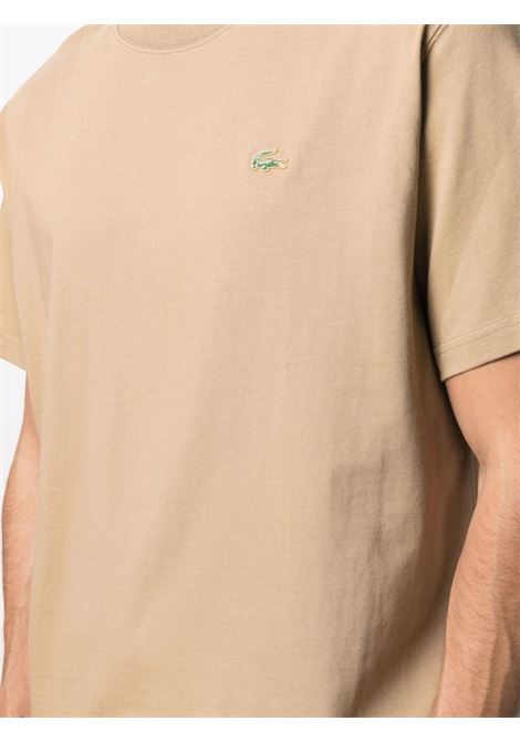 Lacoste logo t-shirt man brown LACOSTE | T-shirts | TH9166Z1S