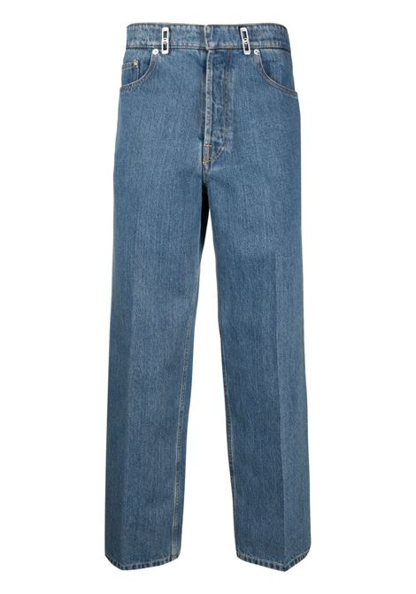 Lanvin logo patch straight leg jeans man denim LANVIN | Jeans | RM-TR0007-D00222