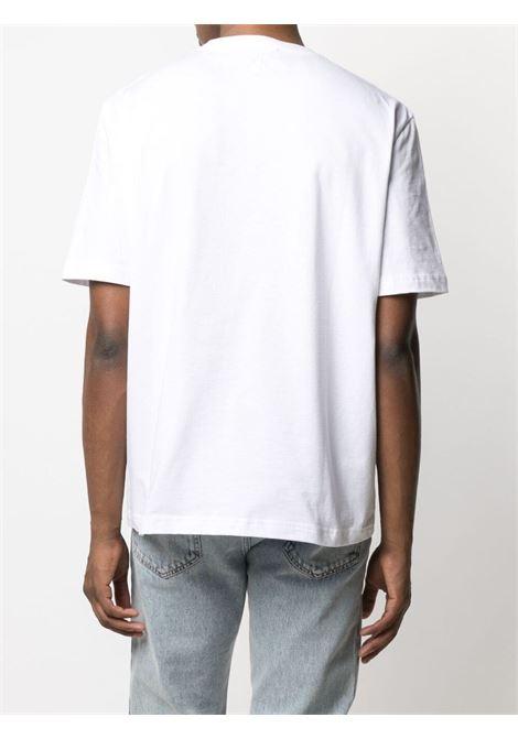 Lanvin t-shirt con patch bocca uomo bianco LANVIN | T-shirt | RM-TS0002-J01501