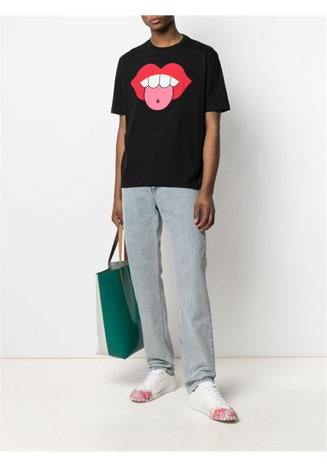 Lanvin mouth patch t-shirt man black LANVIN | T-shirts | RM-TS0002-J01510