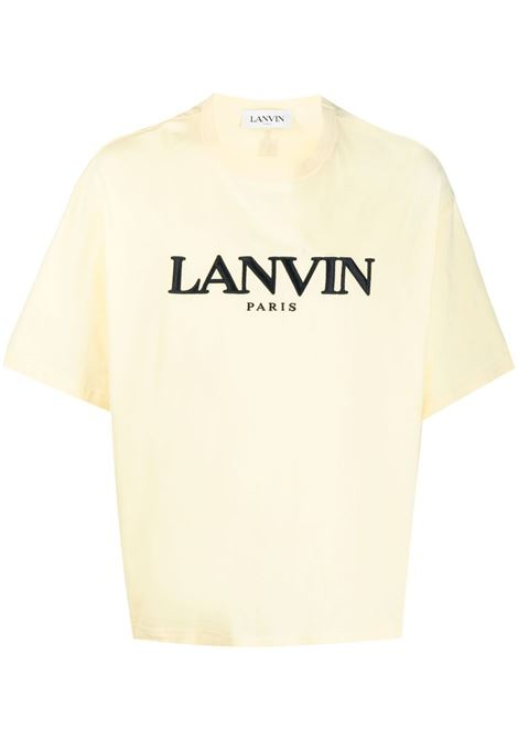 Lanvin embroidered logo t-shirt man beige LANVIN | T-shirts | RM-TS0009-J007803