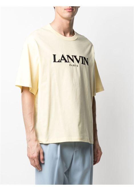 Lavin t-shirt con logo ricamato uomo beige LANVIN | T-shirt | RM-TS0009-J007803