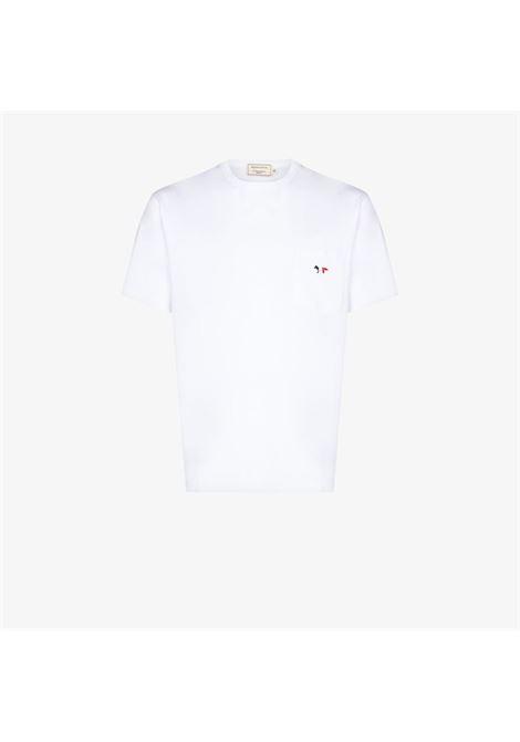 TRICOLOR FOX PATCH POCKE T-SHIRT MAISON KITSUNÉ | T-shirts | FM00120KJ0010WH