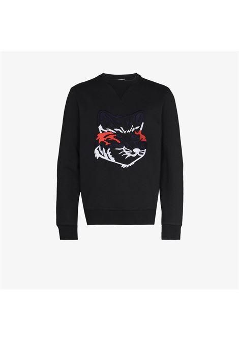 Maison Kitsuné print sweatshirt man black MAISON KITSUNÉ | Sweatshirts | GM00339KM0017BK