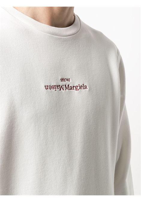 Maison Margiela felpa a girocollo con logo uomo MAISON MARGIELA | Felpe | S50GU0166 S25503101