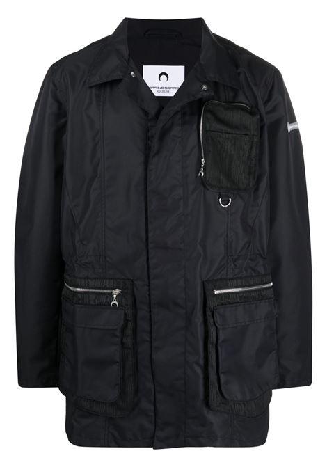 LOGO PATCH PARKA COAT MARINE SERRE | Jackets | C027SS21M-WOTPA000200