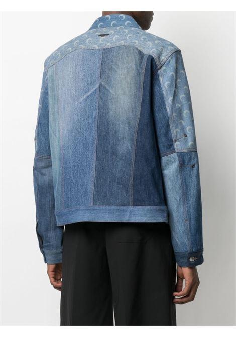 giacca con stampa luna unisex denim in cotone MARINE SERRE | Giacche | J037SS21MU-DENCO000406