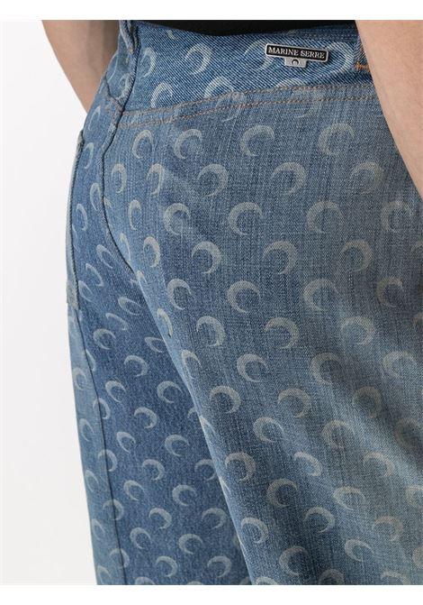 MOON DENIM TROUSERS MARINE SERRE | Trousers | P021ICONM-DENCO000406