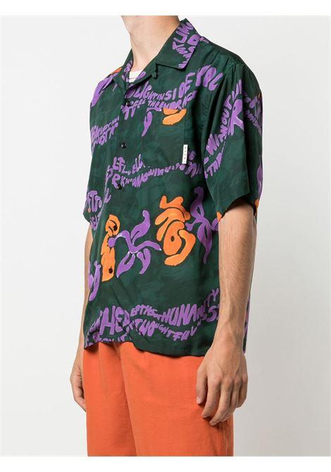 Marni printed shirt man multicolor MARNI | Shirts | CUMU0213A0 S53973FSV60