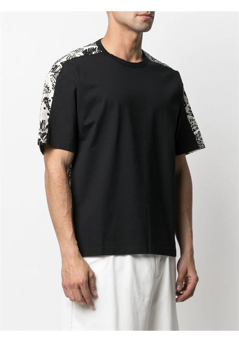 Marni t-shirt con fantasia uomo nero MARNI | T-shirt | HUMU0009Q0 STJ333Y4457