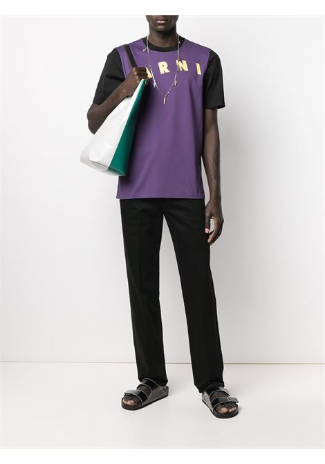 LOGO T-SHIRT MARNI | T-shirts | HUMU0200PQ S23727Y4422