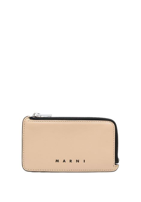 LEATHER CARD HOLDER MARNI | Wallets | PFMI0036Q0 S23727Z1Q70