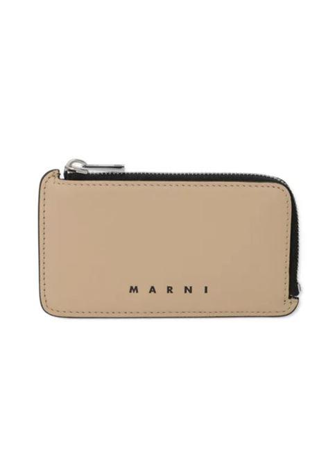 LEATHER CARD HOLDER MARNI | Wallets | PFMI0036Q0 S23727Z1Q70
