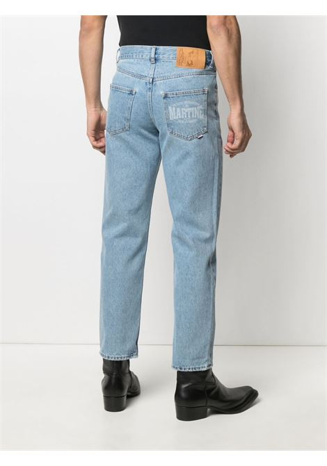 Martine Rose print logo jeans man denim MARTINE ROSE | Jeans | MR223DMR063