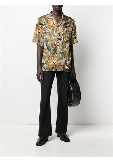 Martine Rose camicia con stampa grafica uomo multicolore MARTINE ROSE | Camicie | MR429WMR403