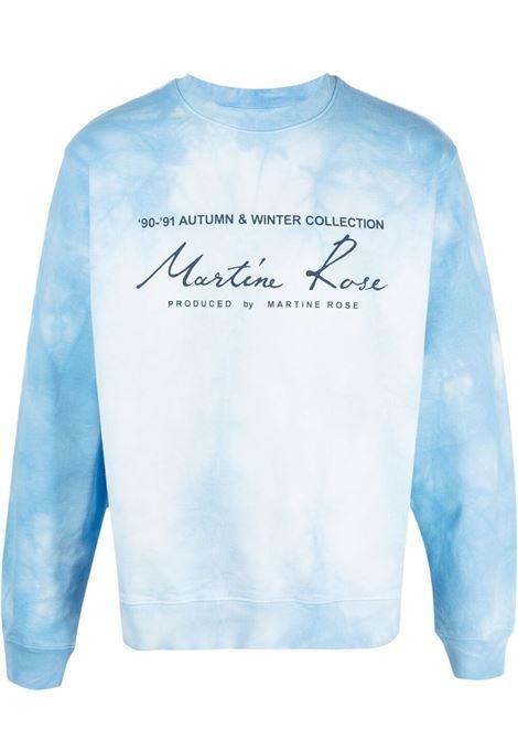 Martine Rose felpa con stampa logo uomo azzurro MARTINE ROSE | Felpe | MR601TMR061