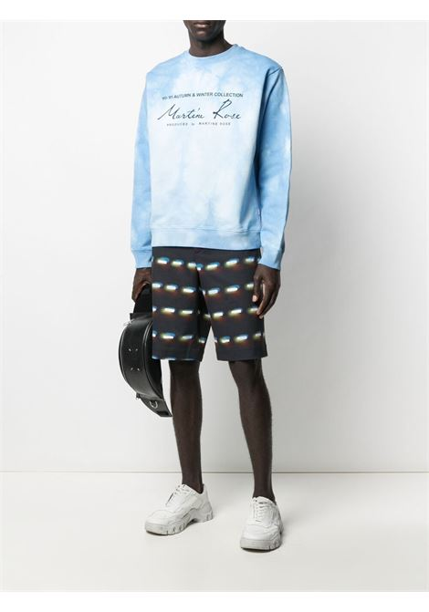 logo sweatshirt man light blue in cotton MARTINE ROSE | Sweatshirts | MR601TMR061