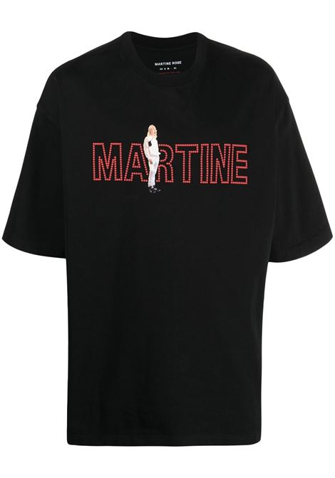 Martine Rose t-shirt con stampa uomo nero MARTINE ROSE | T-shirt | MR621NMR9MA