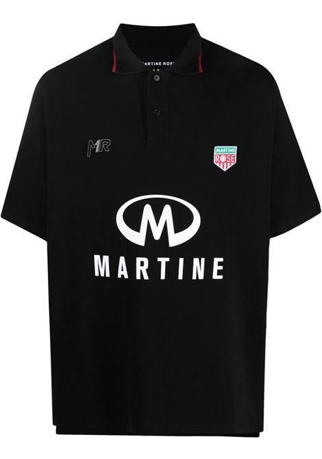 Martine Rose polo con logo stampato uomo nero MARTINE ROSE | Polo | MR903JMR009