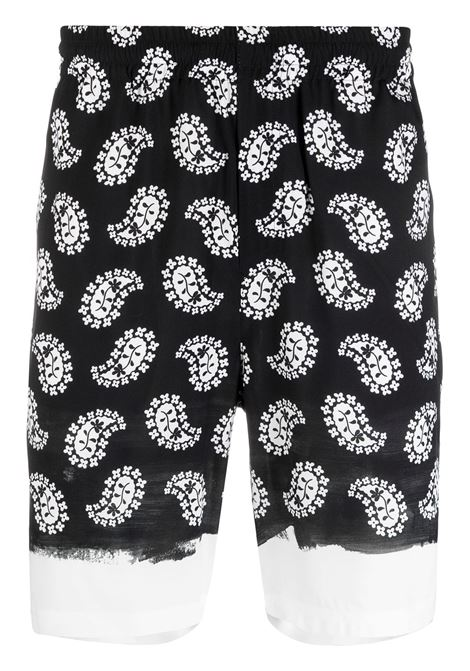 PAISLEY PRINT KNEE LENGTH SHORTS MSGM | Shorts | 3040MB02A 21701399