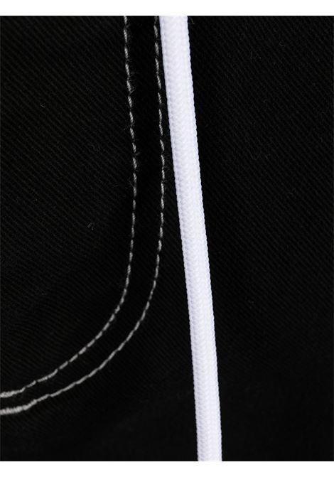 bermuda elasticizzato uomo nero in cotone MSGM | Bermuda | 3040MB44T 21727999