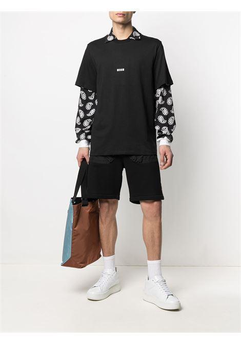 Msgm t-shirt in cotone con logo uomo MSGM | T-shirt | 3040MM162 21709899