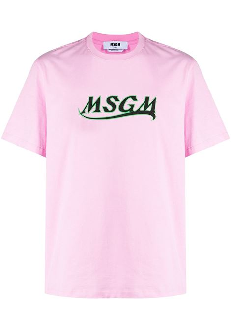 Msgm t-shirt in cotone con logo uomo MSGM | T-shirt | 3040MM169 21709812