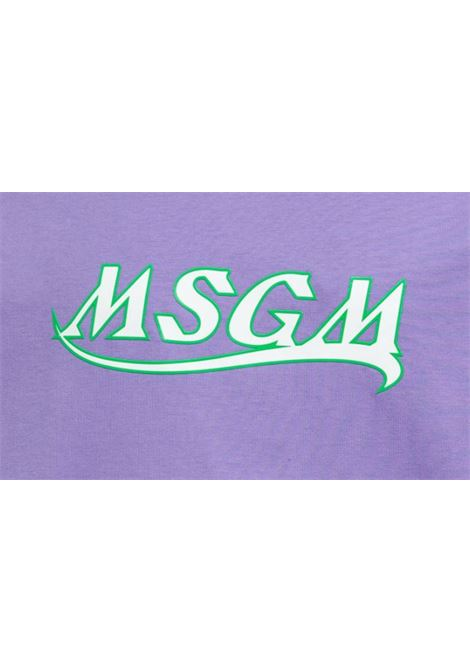 Msgm t-shirt in cotone con logo uomo MSGM | T-shirt | 3040MM169 21709872