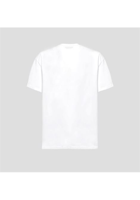 Msgm print t-shirt man white MSGM | T-shirts | 3040MM182 21709801