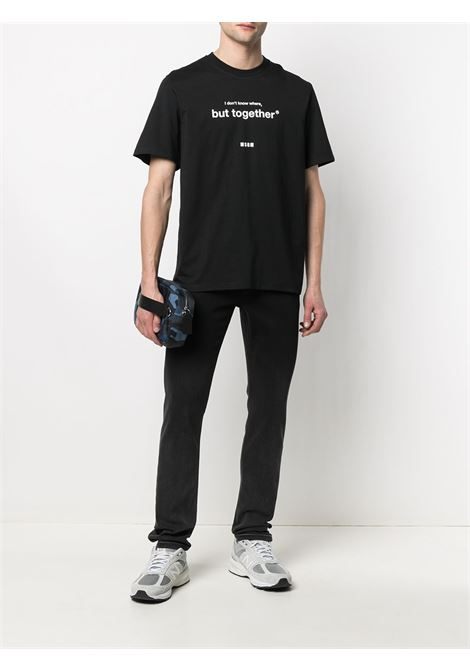 T-Shirt In Cotone Uomo MSGM | T-shirt | 3040MM182 21709899