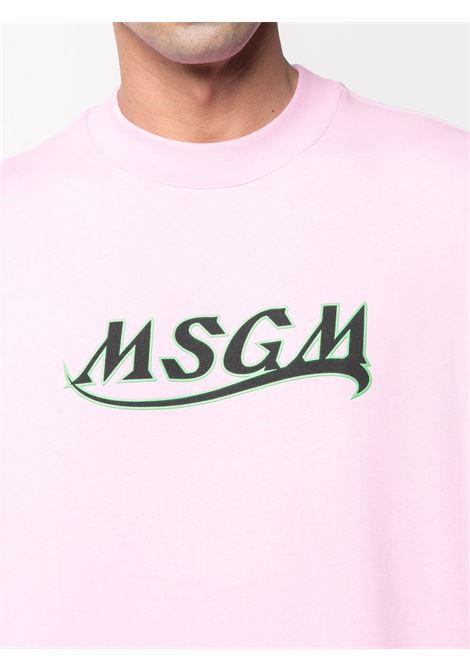 Msgm felpa a girocollo con logo uomo MSGM | Felpe | 3040MM185 21709912