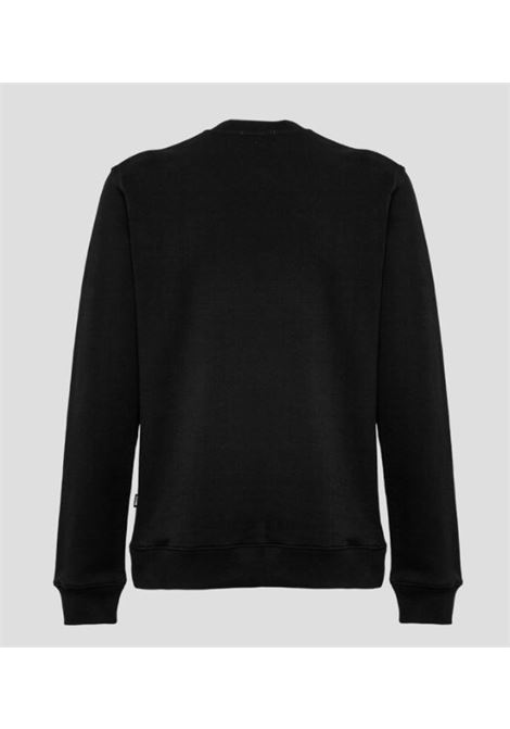 logo sweatshirt man black in cotton MSGM | Sweatshirts | 3040MM69 21709999