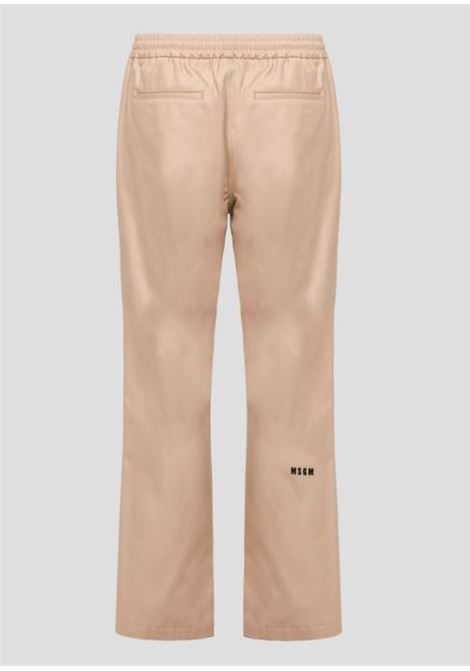 cotton track pants man beige MSGM | Trousers | 3040MP01X 21710523