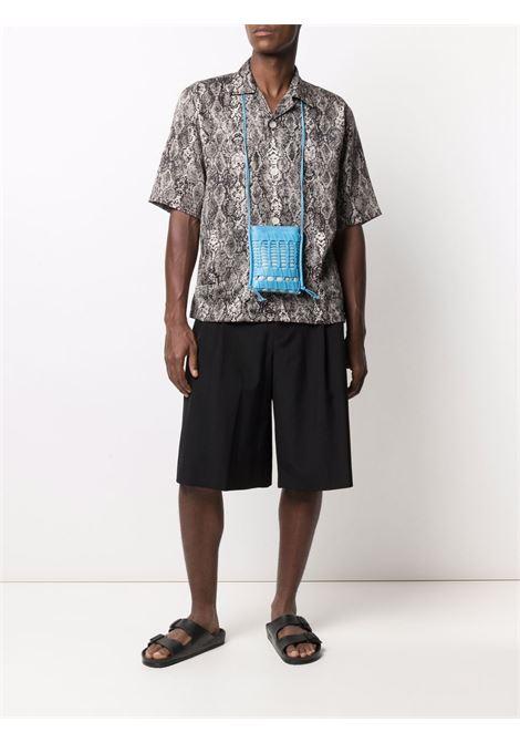 Needles camicia a maniche corte uomo NEEDLES | Camicie | IN169WHITE