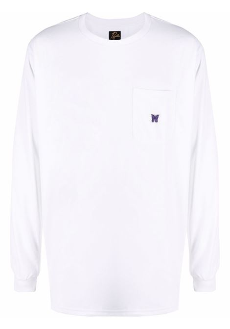 t-shirt a manica lunga uomo bianca in poliestere NEEDLES | T-shirt | IN207WHITE