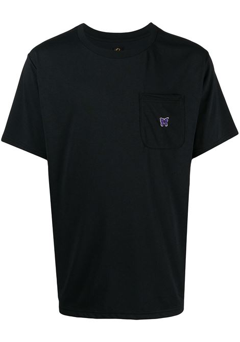 EMBROIDERED T-SHIRT NEEDLES | T-shirts | IN210BLACK
