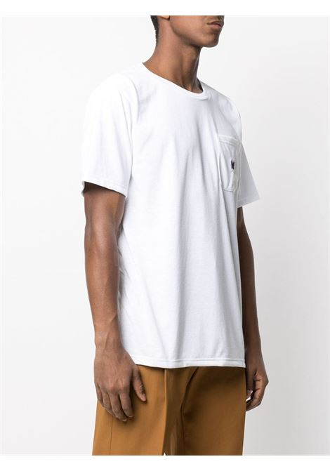 Needles t-shirt con logo uomo NEEDLES | T-shirt | IN210WHITE