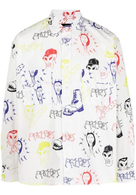 Rassvet camicia con stampa uomo RASSVET | Camicie | PACC8B002HARDCORE PRINT