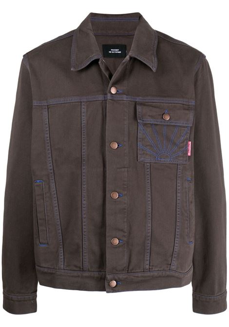 Rassvet giacca in denim uomo RASSVET | Giacche | PACC8J005BROWN