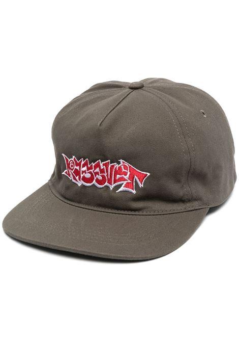 Rassvet cappello con logo ricamato uomo marrone RASSVET | Cappelli | PACC8K002DARK GREEN