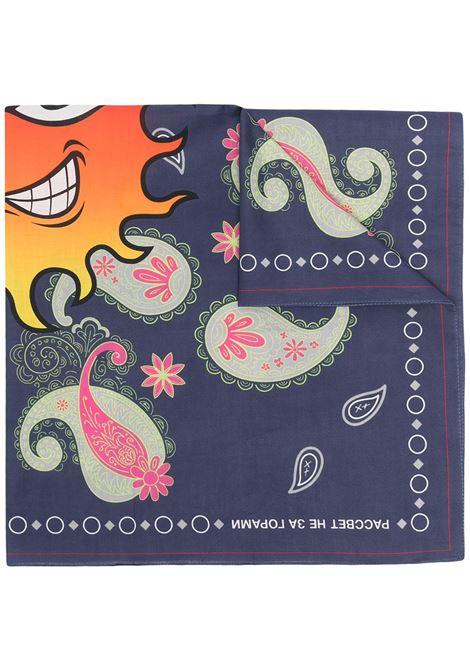 Rassvet sciarpa con stampa uomo multicolore RASSVET | Sciarpe | PACC8K009NAVY