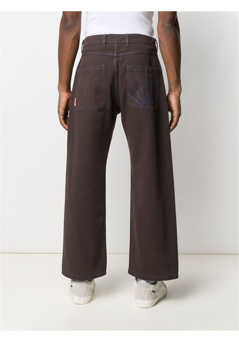Rassvet embroidered logo trousers man brown RASSVET | Jeans | PACC8P005BROWN