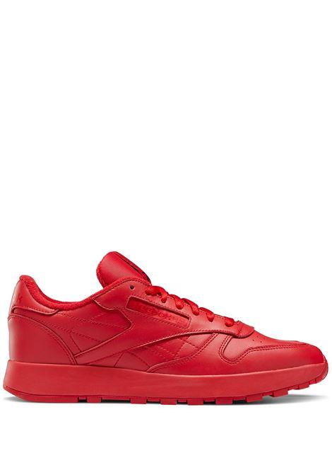 project 0 cl uomo rosse in pelle REEBOK X MAISON MARGIELA | Sneakers | H04866RED
